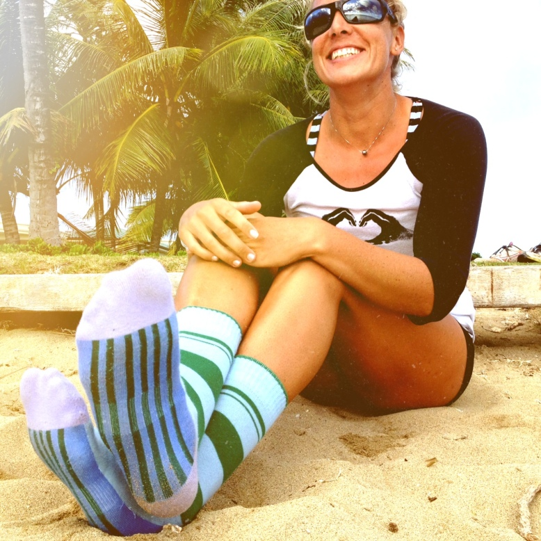 My socks look cool.  Even at the beach.